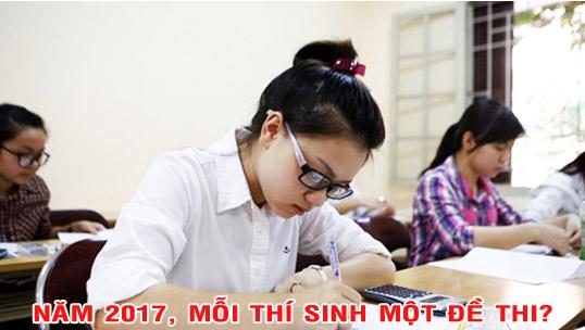 Đề thi chính thức kỳ thi THPT Quốc gia năm 2017