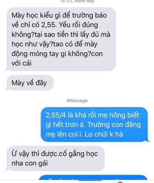 Sinh viên náo loạn vì trường gửi tin nhắn báo điểm cho phụ huynh