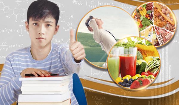Chế độ dinh dưỡng phù hợp vào mùa thi cho học sinh, sinh viên