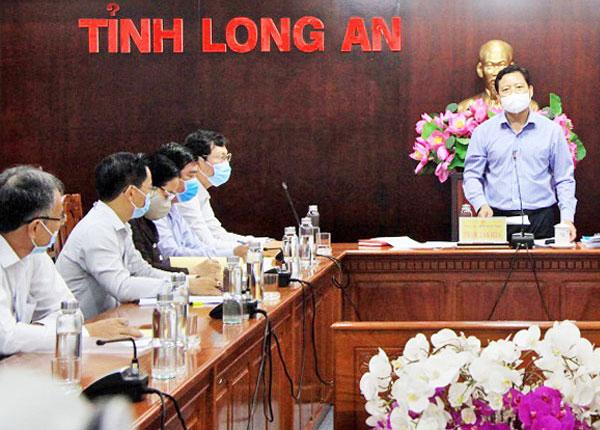 Tỉnh Long An họp ban chỉ đạo kỳ thi THPT năm 2021