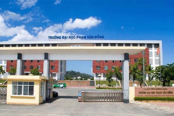 Đại học Phạm Văn Đồng công bố điểm chuẩn học bạ năm 2021