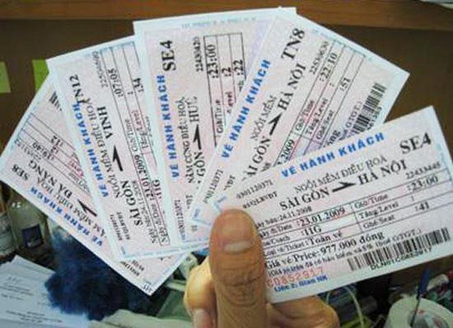 Vé tàu Tết giả bán tràn lan trên mạng
